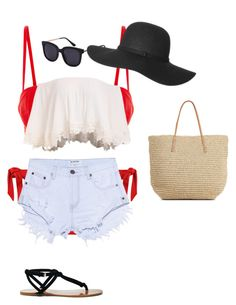 """Getting my tan ay the beach"" by valentinahades88 on Polyvore featuring One Teaspoon, Sole Society and Target"