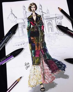 Dress illustration We have organized the newest fashion clothes for you. New Fashion Clothes, Fashion Art, Trendy Fashion, Fashion Outfits, Fashion Shoes, Dress Illustration, Fashion Illustration Sketches, Fashion Sketches, Fashion Design Sketchbook