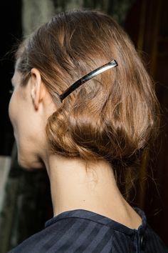 hair detail at Dries Van Noten | Fall 2014 Ready-to-Wear