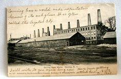 Corning Glass Works   Corning Glass Works 1905 postmark postcard #2 - front