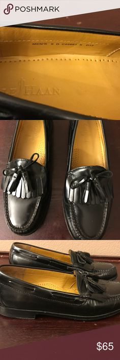 Cole Haan Tassell Loafers, only worn once. Black Tassel Loafers. Size 9. Only worn once. Cole Haan Shoes Loafers & Slip-Ons