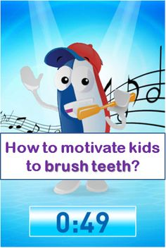 Free App that will get kids motivated brushing teeth everyday for 2 minutes #free #app #health #kids #education