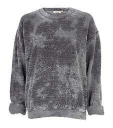 Grey tie dye brushed oversized sweatshirt £35.00