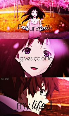 Your smile gives colour to my life hyouka chitanda eru and oreki hotarou