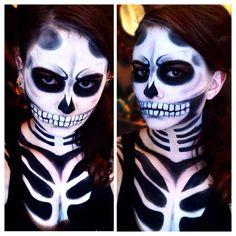 Skeletal body art.