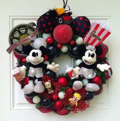 Mickey Mouse Wreath Welcome Wreath Disney by SparkleForYourCastle Mickey Mouse Wreath, Disney Wreath, Mickey Mouse Christmas, Mickey Y Minnie, Disney Christmas, Disney Mickey, Minnie Mouse, Holiday Wreaths, Christmas Wreaths