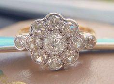 Art Deco Vintage Engagement Ring.