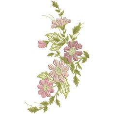 Flower Spray, Embroidery Supplies, Large Flowers, Machine Embroidery, Floral, Florals, Flowers, Flower