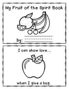 Fruit of the Spirit Book Freebie Preschool Bible Lessons, Bible Lessons For Kids, Bible Activities, Bible For Kids, Bible Story Crafts, Bible School Crafts, Sunday School Crafts, Preschool First Day, Preschool Class