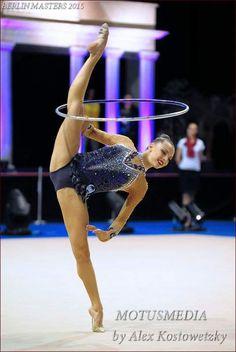 Melitina Staniouta (Belarus) won silver in all-around at Berlin Grand Prix 2015