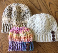 Skein and Hook: Free Crochet Pattern - The Bristol Hat, toddler, child, adult sizes. Chunky yarn.