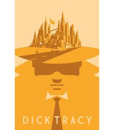 Alternative Movie Poster for Dick Tracy by Barry Blankenship