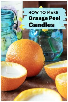 Learn how to make scented orange peel candles at home for a beautiful tablescape with natural decor. Sea Crafts, Fun Diy Crafts, Diy Craft Projects, Holiday Crafts, Homemade Candles, Diy Candles, Scented Candles, Nature Decor, Nature Crafts