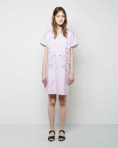 Carven / Floral Cut-Out Oxford Dress