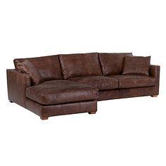 Buy John Lewis Baxter LHF Chaise End Sofa, Rialto Bruno Online at johnlewis.com