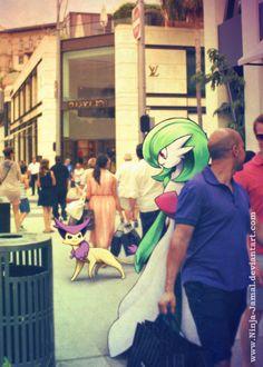 Wild POkemon Encounter in Beverly Hill by Ninja-Jamal.deviantart.com on @DeviantArt