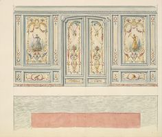 Design for a Wall Elevation with Double Doors (Fifth Floor)