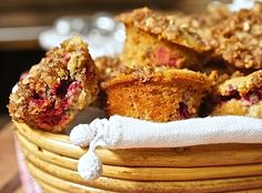 Tender Cranberry Streusel Muffins by Mom's Kitchen Handbook