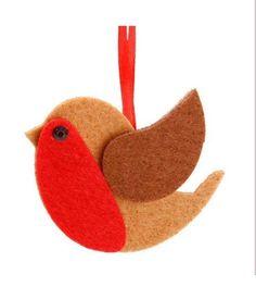 2x FELT ROBIN BIRD FESTIVE FATHER CHRISTMAS XMAS TREE HANGING DECORATIONS GIFT in Home, Furniture & DIY, Celebrations & Occasions, Christmas Decorations & Trees | eBay