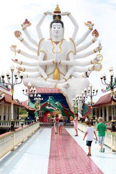 Wat Plai Laem temple, Koh Samui / A Globe Well Travelled