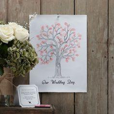 Fingerprint tree for a wedding guestbook Our Wedding Day, Wedding Guest Book, Fingerprint Tree, Decoration, Blog, Guestbook Ideas, Wood Games, Guest Book Alternatives, Alternative Wedding