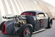 """A """"Volksrodder"""" VW with a Chevy engine."""