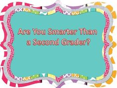 Are You Smarter Than a Second Grader? Curriculum Night, Parent Night, Summer School, Second Grade, Open House, Games To Play, Ms, Kindergarten, Parents