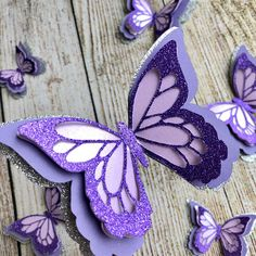 Butterfly Table Decorations, 3d Butterfly Wall Decor, Butterfly Party, Paper Butterflies, Paper Flowers, Happy Birthday Signs, Silver Glitter, Silver Paper, 3d Paper