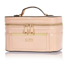 f72503791fe River Island Pink patent make up vanity case ( 50) ❤ liked on Polyvore  featuring beauty products, beauty accessories, bags   cases, bags   purses,  ...