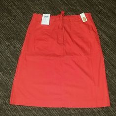 Watermelon Red Skirt Brand New, watermelon red 100% cotton skirt.. Super cute! Talbots Skirts