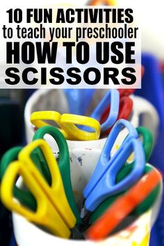 If you're looking for fun ways to teach your child proper scissor skills, these cutting activities for preschoolers are exactly what you need. I suggest starting with # 5, but #1 is pretty fun!