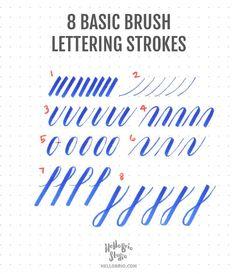 Intro to Brush Lettering: Basic Strokes | Hello Brio Studio | Bloglovin'
