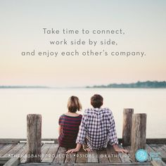 """We can make a difference in our husbands' lives by being with them - """"being two"""" together in all that we do. #P31OBS"""