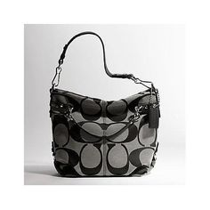NEW AUTHENTIC COACH SIGNATURE BROOKE HOBO (BW/Black/Silver): Clothing:Disclosure affiliate link