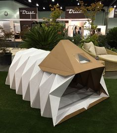 Best of Dwell on Design 2016 - Design Milk Folding Architecture, Architecture Design, Building Facade, Green Building, Homeless Housing, Portable Shelter, Dwell On Design, Shelter Design, Cardboard Furniture