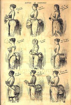 Archivo General de la Nación Argentina Historical Costume, Historical Clothing, Edwardian Fashion, Vintage Fashion, 1870s Fashion, Mode Costume, Bustle Dress, 19th Century Fashion, Funny Fashion