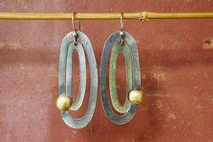 c47311fe4daad wabi sabi earrings-lightweight dangle earrings-silver and gold-boho  earrings-handmade