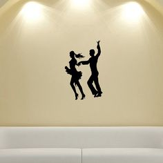 Couple Dancing Tango Silhouette Wall Vinyl Decal