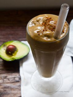 Chocolate Avocado Protein Smoothie. Almost like a milkshake, but no one has to know that.