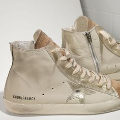 Golden Goose Francy Sneakers In Leather And Leather Star Women - Golden Goose / GGDB