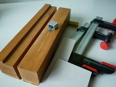 DIY Ploughing. Tools needed by johnacsyen, via Flickr. Tools needed:   A press, 2 f-clamps, some grey boards to place between the book block and press, and of course the plough.    Blade is single edge mat cutter blade: OLFA MC-45