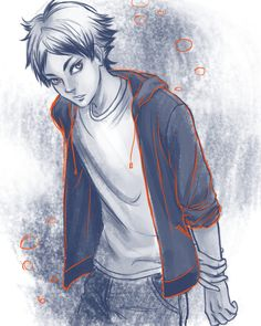 """Current Concern: Tendou told him that he looks uncool in casual clothes."" Semi, requested by @nogurt-p"