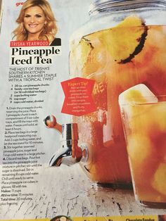 Trisha Yearwood Pineapple Iced Tea Recipe