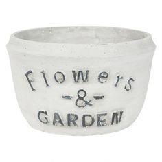 Flowers & Garden Pot White Urban Barn