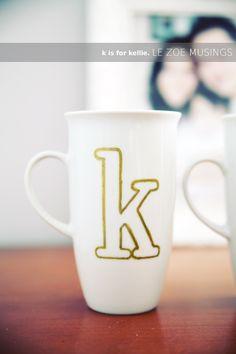 gold monogammed  K-mug...