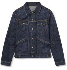 Denim Jacket Men, Denim Coat, Knit Jacket, Denim Shorts, Down Ski Jacket, Western Shirts, Vintage Denim, Tom Ford, Fashion News