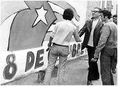 Salvador Allende, president of Chile with la Brigada Elmo Catalán.