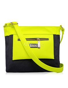 neon cross body bag $15