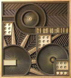 Mark Langan - corrugated box sculptural art