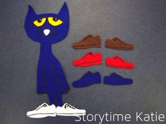 Flannel board for Pete the Cat I Love my White Shoes